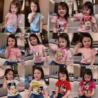Baju Kaos Anak Perempuan Motif Princess Elsa Frozen/Snow White/Mermaid