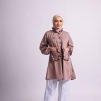 Baju Atasan Tunik 2021 Ladyana Tunik HR Bahan Toyobo Premium - S/M, MAUVE