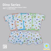 VIOLENTA DinoSeries | Setelan Bayi Kancing Depan Pendek Celana Pendek