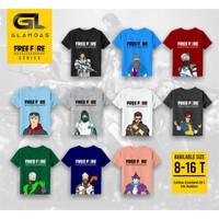 Baju Kaos Anak Laki-laki TEEN JUNIOR REMAJA Free Fire size 8-16