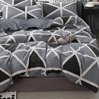 Bed Cover Bahan Star Deluxe Black DIamond Single 120 cm x 200 cm