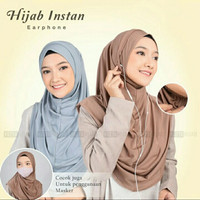 Hijab Medina Instan Earphone