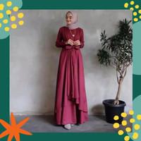 Gamis wanita Jumbo RPALUNA Baju Dress Muslimah Big Size terbaru