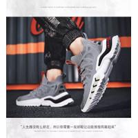Sepatu Pria Sneakers Tali Cowok Import Fashion Running Olahraga Casual
