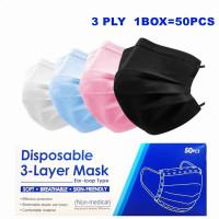 Masker Earloop Medical Grade Disposable Mask 3ply untuk Dewsa danAnak