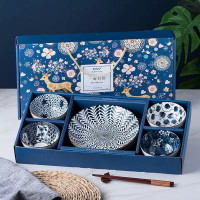 HOME DECOR Hampers Gift Kado Natal Piring Mangkuk Keramik Set