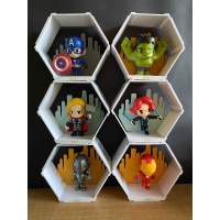 XXI Avengers Age of Ultron Collectible Hexagon Complete Set - isi 6