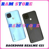 Backdoor Tutup Baterai Back Cover Belakang Backdor REALME C21 original