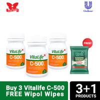 Suplemen Vitalife C 500mg 30 kapsul - 3 botol
