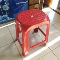 Bangku Baso Plastik Napolly 303 / Bangku Semata Napolly Merah - Merah