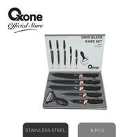 Oxone Onyx Black Knife Set ox-609N pisau set