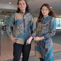 BAJU BATIK COUPLE PRIA/WANITA, FURING DAN TRIKOT BAHAN HALUS ADEM 0147