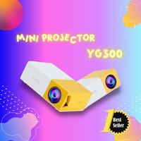 Mini Projector LED atau proyektor YG300 Mini theater kuning bergaransi