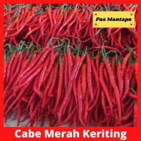 Cabe Merah Keriting Segar Cabai Kriting Pasar Murah Bekasi - 1/4 kg