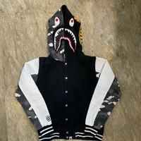 Bape Varsity Shark Bomber Hoodie