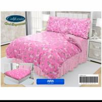 bedcover set my love california warna pink 180200/160x200