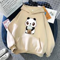 Sweater anak perempuan BOBBA CREAM jaket anak panda creamy hodie anak