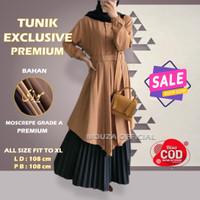 Baju Tunik Atasan Wanita Remaja Dress Fashion Muslim Jumbo Terbaru