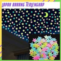 LBT Stiker Bintang Per 100pcs / Stiker Dinding / Glow In The Dark Star