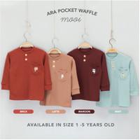 Mooi Sweater Anak Ara Pocket Waffle Top