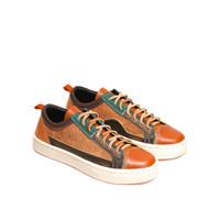 Sepatu Sneakers Kulit Pria Exodos57 Lampero Low Cor Brown