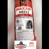 Ban Motor Maxxis M6211/12 Tubeless Rim size 16 - 70/90