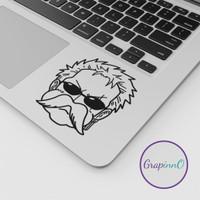 Decal Sticker Macbook Apple Zoro Zorojuro OnePiece Anime Stiker Laptop