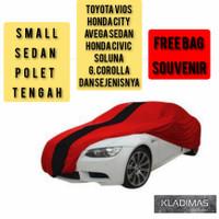 Cover mobil Sedan POLET[Civic Vios city Soluna corolla]Deluxe Outdoor. - Abu-abu
