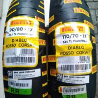 Ban motor Sport Pirelli Diablo Rosso Corsa II 90/80-17 & 110/70-17