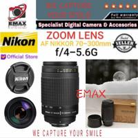 NIKON 70-300mm Lensa Tele Camera AF Zoom f/4-5.6G 70 300 mm non VR Ori