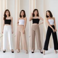 Celana Kulot Scuba Premium Highwaist Wanita Cullote Panjang Tebal