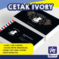 Cetak Kertas Ivory 310 Gram 1 Sisi A3 Plus Fullcolor