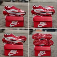Sepatu Bola Nike Mercurial V Light Color Red And Blue