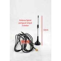 Antena Spiral Penguat Sinyal 3 Meter Signal Booster SMA MALE