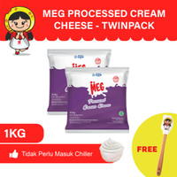 MEG Processed Cream Cheese 500g - Twin Pack