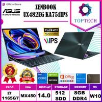 ASUS ZENBOOK DUO UX482EG i7 1165G7 16GB 512SSD MX450 2GB FREE OFFICE