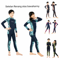 baju renang anak laki perempuan army pakaian diving anak setelan selam