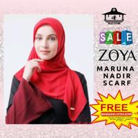 Kerudung Hijab Jilbab Segi Empat Polos Maruna Sista Casual Nadir Zoya