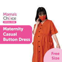 Mama's Choice Maternity Casual Button Dress