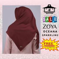 Kerudung Hijab Jilbab Segi Empat Polos Zoya Oceana Sparkling Scarf 4