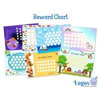 Reward chart untuk anak tempel sticker potty train sleep training guru