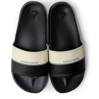 Sun Casual - Vol 3 | Slippers | White Black | Sandal Pria
