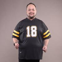 WGB Kaos Jersey olahraga BLACK18 BigSize Pria Ukuran Besar XL XXL