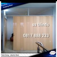 Penyekat Ruangan   Folding door   Pintu Lipat PvC Free ukur