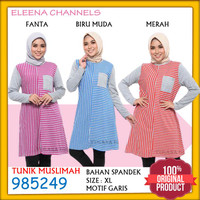 Baju Tunik Wanita Atasan Muslim XL Lengan Panjang Muslimah LZ985249