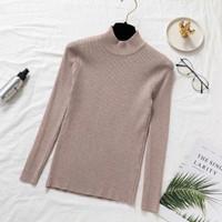 TURTLENECK (kerah tidak lipat) Baju Rajut Halus Kaos Import Wanita Len