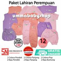 Paket Baju Bayi Perempuan Cewek Newborn Girl 12pcs Perlengkapan Lahir