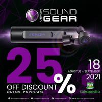 VENOM SOUND GEAR Bluetooth headset stereo nirkabel VSG