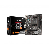MSI A320M-A PRO MAX   Motherboard Ryzen AM4 Micro ATX Form Factor