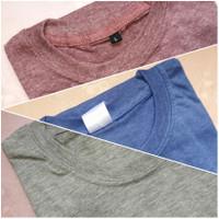 3 Set Kaos Polos Twotone Misty Cotton Combed 30s Lengan Pendek